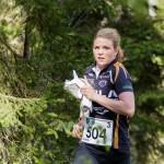 Karolin Ohlsson  Järla Orientering 1 i ledning i slutet av 3e sträckan i damstafetten under 10Mila orientering  ( Foto: Göran Johansson / Pic-Agency )